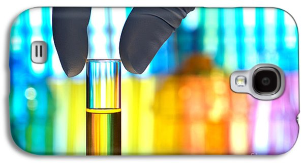 Sample Galaxy S4 Cases - Laboratory Test Tube in Science Research Lab Galaxy S4 Case by Olivier Le Queinec