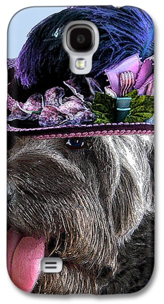 Canine Greeting Cards Digital Galaxy S4 Cases - Labradoodle Trudy To The Derby Galaxy S4 Case by Michele  Avanti
