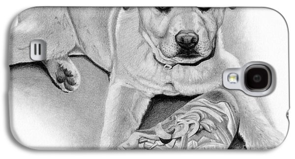 Puppies Galaxy S4 Cases - Sneaker Snatcher- Labrador and Chow Chowx Mix Galaxy S4 Case by Sarah Batalka