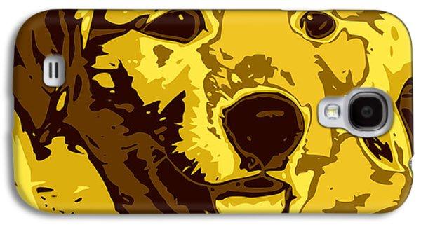 Labrador Digital Galaxy S4 Cases - Labrador Galaxy S4 Case by Chris Butler