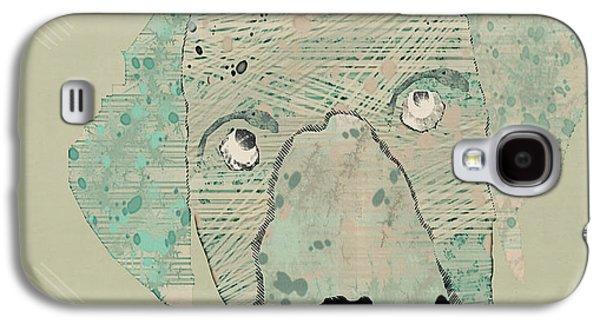 Labrador Digital Galaxy S4 Cases - Labrador dog  Galaxy S4 Case by Bri Buckley