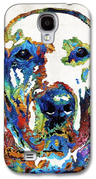 Dog Playing Ball Galaxy S4 Cases - Labrador Retriever Art - Play With Me - By Sharon Cummings Galaxy S4 Case by Sharon Cummings
