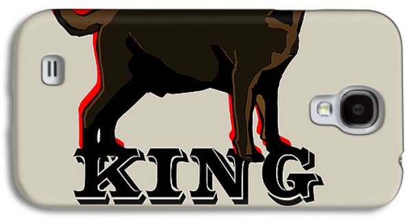 Chocolate Lab Digital Art Galaxy S4 Cases - Labrador Retriever King of the Dog Park Galaxy S4 Case by Barkley And Co