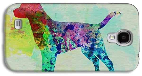 Puppies Galaxy S4 Cases - Labrador Retriever Watercolor Galaxy S4 Case by Naxart Studio
