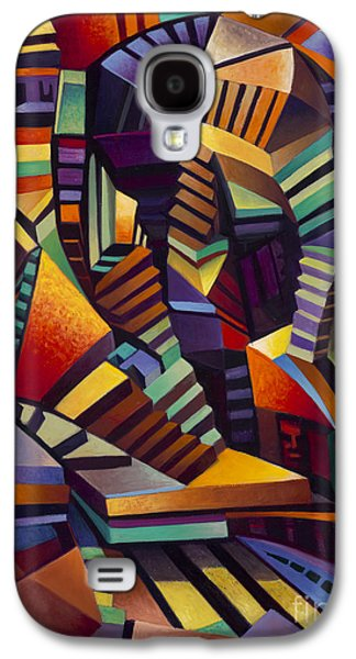Staircase Paintings Galaxy S4 Cases - Labrynth 1 Galaxy S4 Case by Ricardo Chavez-Mendez