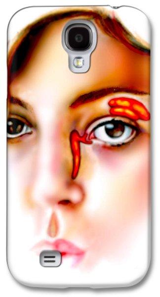 Torn Galaxy S4 Cases - Lacrimal Apparatus Galaxy S4 Case by Gwen Shockey
