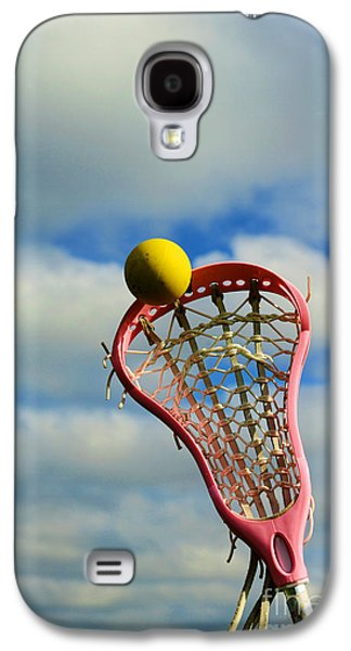 Sports Photographs Galaxy S4 Cases - Lacrosse In the Pink Galaxy S4 Case by Paul Ward