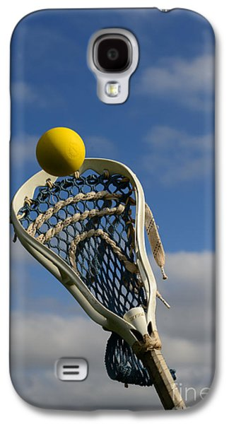Sports Photographs Galaxy S4 Cases - Lacrosse Stick and Ball Galaxy S4 Case by Paul Ward