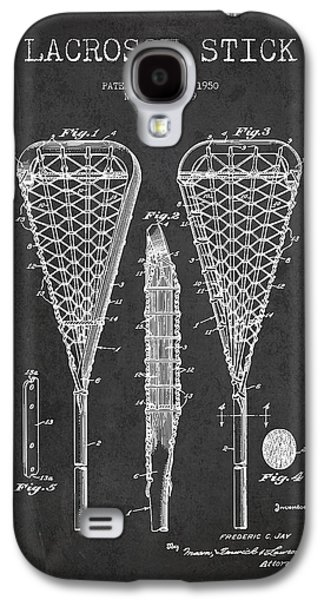 Technical Digital Art Galaxy S4 Cases - Lacrosse Stick Patent from 1950- Dark Galaxy S4 Case by Aged Pixel