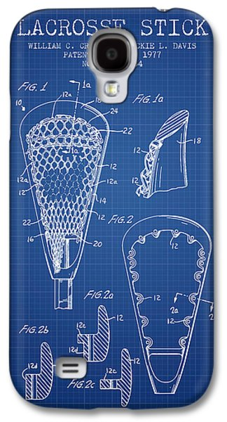 Technical Digital Galaxy S4 Cases - Lacrosse Stick Patent from 1977 -  Blueprint Galaxy S4 Case by Aged Pixel