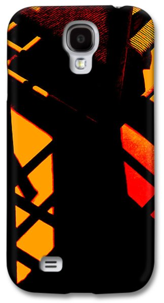 Ladder Back Chairs Galaxy S4 Cases - Ladderback Flamenco Galaxy S4 Case by Lin Haring