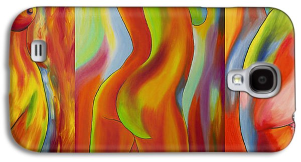 Colorful Abstract Galaxy S4 Cases - Ladies Galaxy S4 Case by Veikko Suikkanen