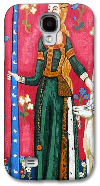 Byzantine Paintings Galaxy S4 Cases - Lady and The Unicorn la pointe Galaxy S4 Case by Genevieve Esson