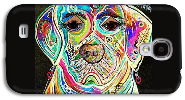 Boxer Galaxy S4 Cases - Lady Boxer Galaxy S4 Case by Eloise Schneider