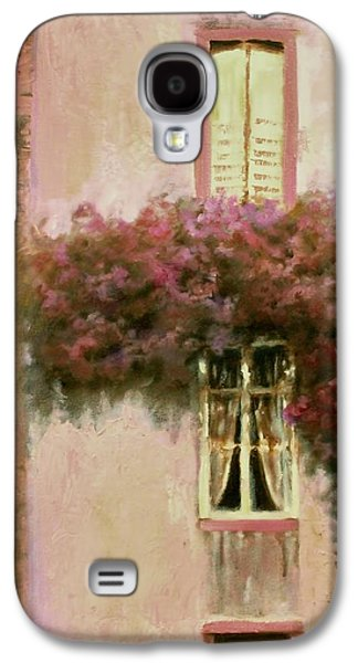 Quebec Streets Paintings Galaxy S4 Cases - Lady Camille Galaxy S4 Case by Melissa Herrin