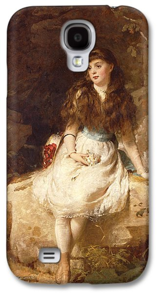 Historical Pictures Galaxy S4 Cases - Lady Edith Amelia Ward Daughter of the First Earl of Dudley Galaxy S4 Case by George Elgar Hicks