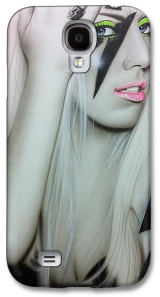 Celebrities Paintings Galaxy S4 Cases - Lady GaGa Galaxy S4 Case by Christian Chapman Art