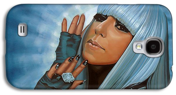 Lady Gaga Painting Galaxy S4 Case by Paul Meijering