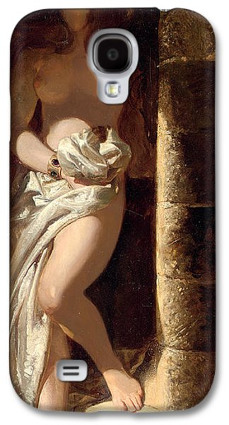 Busts Galaxy S4 Cases - Lady Godiva  Galaxy S4 Case by Edward Henry Corbould