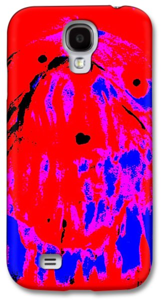 Component Paintings Galaxy S4 Cases - Lady in deep red Galaxy S4 Case by Hilde Widerberg