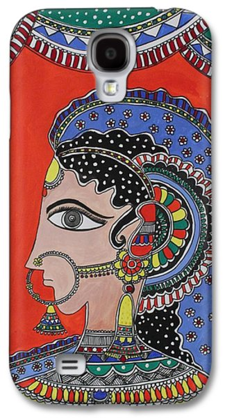 Religious Drawings Galaxy S4 Cases - Lady in ornaments Galaxy S4 Case by Shakhenabat Kasana