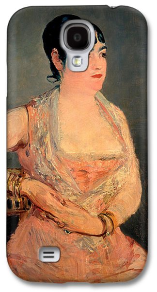 Sit-ins Paintings Galaxy S4 Cases - Lady in Pink Galaxy S4 Case by Edouard Manet