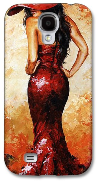 Person Galaxy S4 Cases - Lady in Red 035 Galaxy S4 Case by Emerico Imre Toth