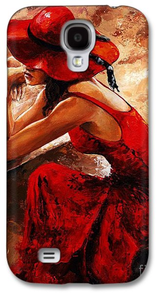 Person Galaxy S4 Cases - Lady in red 21 Galaxy S4 Case by Emerico Imre Toth