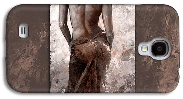 Nudes Digital Galaxy S4 Cases - Lady in red 27 style Dark MistyRose Galaxy S4 Case by Emerico Imre Toth