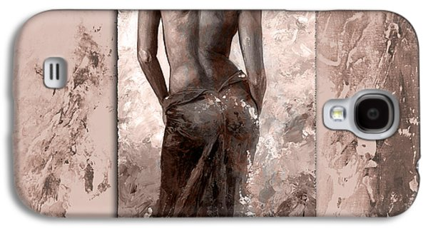 Nudes Digital Galaxy S4 Cases - Lady in red 27 style MistyRose Galaxy S4 Case by Emerico Imre Toth