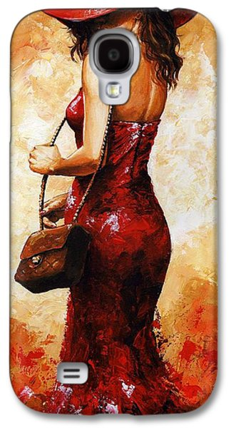 Person Galaxy S4 Cases - Lady in red  30 Galaxy S4 Case by Emerico Imre Toth
