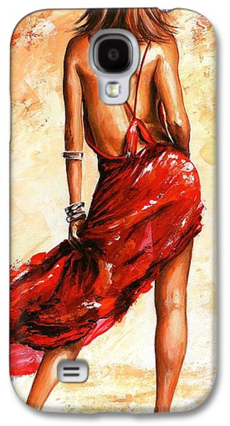 Person Galaxy S4 Cases - Lady in red 40 Galaxy S4 Case by Emerico Imre Toth