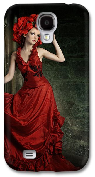 Creative Manipulation Galaxy S4 Cases - Lady In Red Galaxy S4 Case by Ester  Rogers