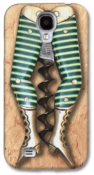 Lady Legs Corkscrew Painting Galaxy S4 Case by Jon Neidert