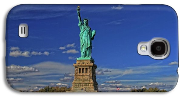 Boats In Harbor Galaxy S4 Cases - Lady Liberty In New York City Galaxy S4 Case by Dan Sproul