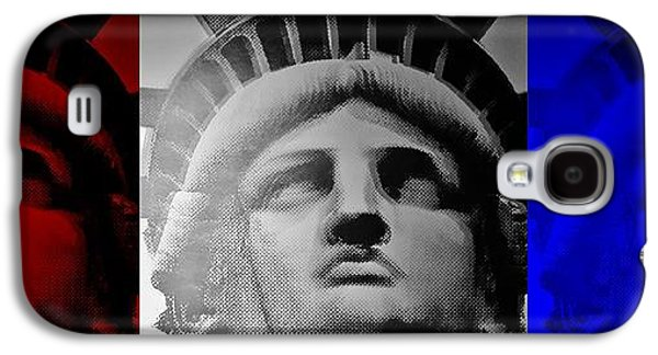Statue Portrait Galaxy S4 Cases - Lady Liberty Red White And Blue Galaxy S4 Case by Rob Hans