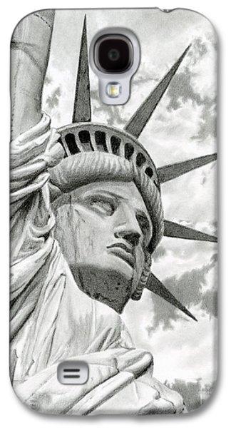 4th July Galaxy S4 Cases - Lady Liberty  Galaxy S4 Case by Sarah Batalka