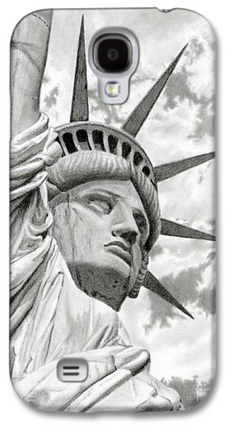 4th July Galaxy S4 Cases - Lady Liberty  Galaxy S4 Case by Sarah Batalka