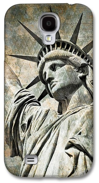 Statue Portrait Galaxy S4 Cases - Lady Liberty vintage Galaxy S4 Case by Delphimages Photo Creations