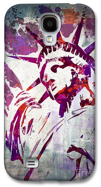 Statue Portrait Galaxy S4 Cases - Lady Liberty watercolor Galaxy S4 Case by Delphimages Photo Creations