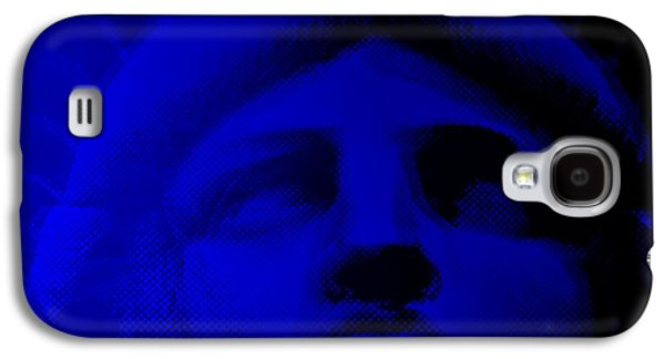 Statue Portrait Galaxy S4 Cases - LADY LIBERY in BLUE Galaxy S4 Case by Rob Hans