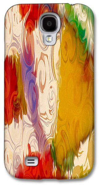 Abstract Digital Mixed Media Galaxy S4 Cases - Lady Love Galaxy S4 Case by Omaste Witkowski