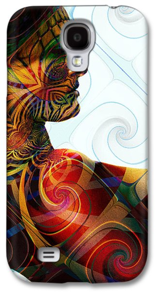 Abstract Forms Galaxy S4 Cases - Lady Masquerade Galaxy S4 Case by Kiki Art
