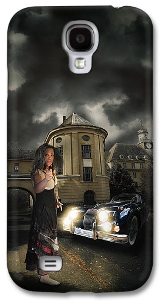 Creepy Digital Art Galaxy S4 Cases - Lady of the night Galaxy S4 Case by Nathan Wright