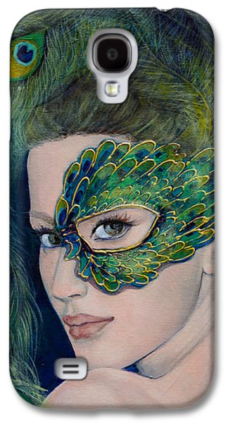 Live Art Galaxy S4 Cases - Lady Peacock Galaxy S4 Case by Dorina  Costras