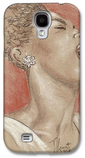 African-american Drawings Galaxy S4 Cases - Lady sings the blues Galaxy S4 Case by P J Lewis