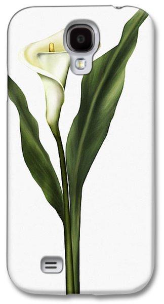 Calla Lilly Galaxy S4 Cases - Lady So Pure Galaxy S4 Case by Georgiana Romanovna