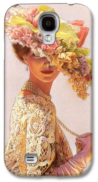 Floral Pastels Galaxy S4 Cases - Lady Victoria Victorian Elegance Galaxy S4 Case by Sue Halstenberg