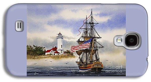 Lady Washington Galaxy S4 Cases - Lady Washington at Point Wilson Lighthouse Galaxy S4 Case by James Williamson