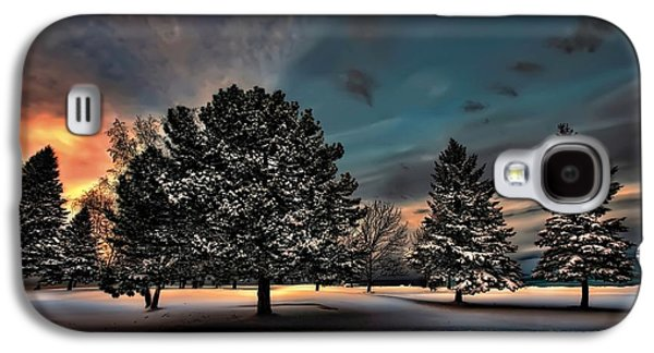 Park Scene Digital Galaxy S4 Cases - Lady winter  bringing a cold snap Galaxy S4 Case by Jeff S PhotoArt